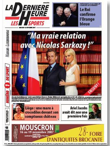 Nicolas Sarkozy et Tinka Milinovic : amants? dans buzz image1
